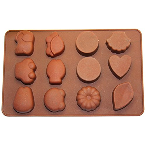 12 Cavity Basic Chocolate Candy and Soap Mold