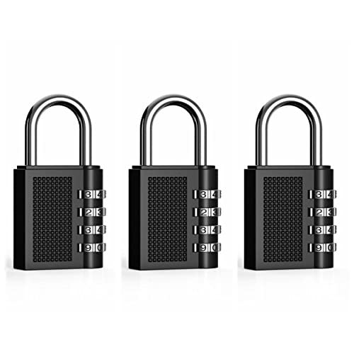 ZHW Travel Luggage 4 Digit Resettable Combination Lock with