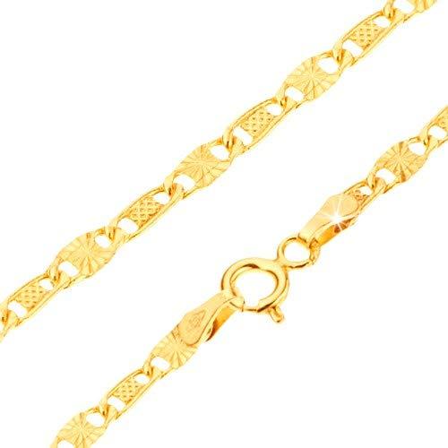e7cac0080005 ORDOŠ Diamonds® Pulsera de Oro de 14K, Cadena de Oro 585, Pulsera en ...
