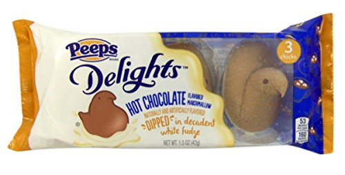Peeps Delights Hot Chocolate Marshmallow Fudge Dipped Chicks, 3 Count, Pack of 3