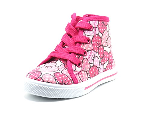 New Cute Infant Baby & Toddler Girls Shoes Sneakers JR-82F (Size 7, Fuch Bow) (Cute Childrens Shoes)