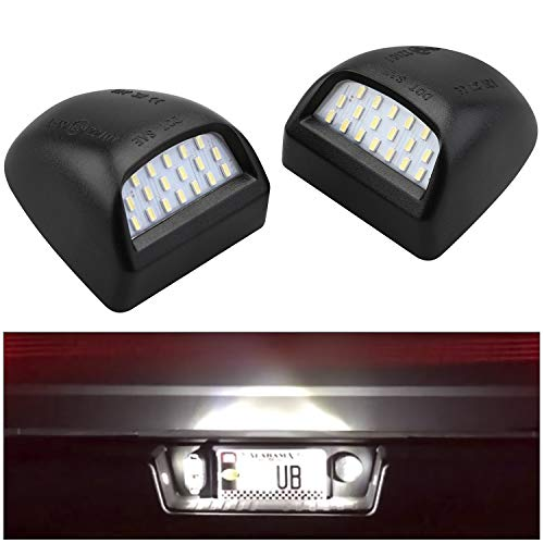 (Seven Sparta LED License Plate Light Lens Replacement for Chevy, GMC, Cadillac, 6000K 18SMD White LED Light (Pack of)