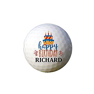 GiftsForYouNow Happy Birthday Cake Personalized Golf Ball Set