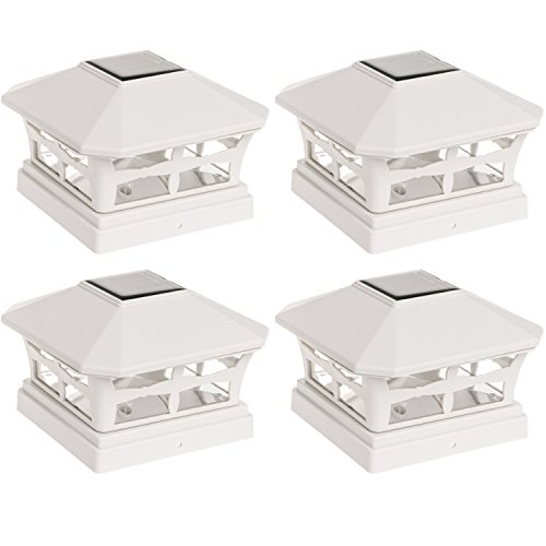 "4 Pack Green Lighting 5""x5"" Solar Powered Post Cap Light ..."