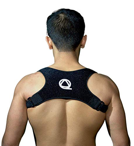 Qualid Posture Corrector- Invisible Under Clothes, FDA Approved, Men and Women, Body Fitting, Adjustable Straps, Thin and Comfortable (The Best Posture Corrector)