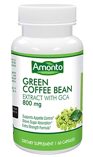 Green Coffee Bean Extract with GCA 60 Caps- Max Strength Natural Green Coffee Bean with 50% Green Coffee Antioxidant for Weight Loss | Maintains Normal Blood Sugar - Max Bean Coffee
