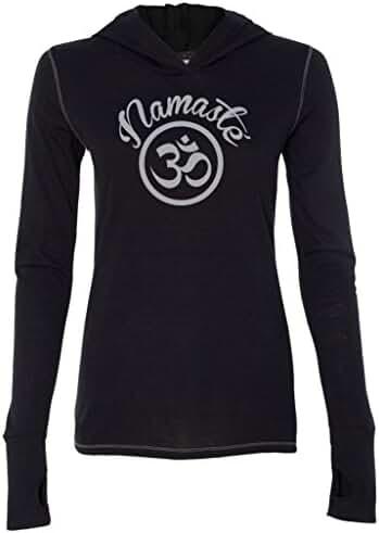 Yoga Clothing For You Ladies Namaste OM Hoodie Tee Shirt