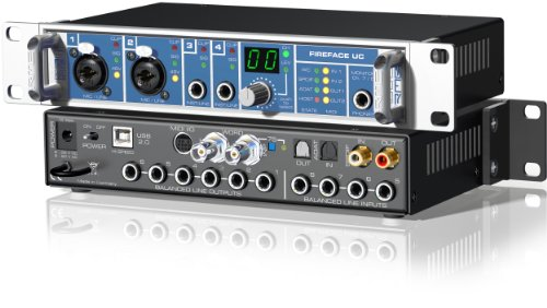 RME Fireface UC Hi-Performance USB 2.0 High Speed Audio Interface, 24 Bit/192 KHz, 36-Channel by RME