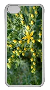 Customized iphone 5C PC Transparent Case - Yg Flower Personalized Cover