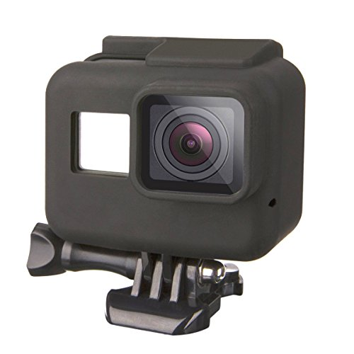 Luxebell Silicone Protective Housing Case Cover for GoPro Hero 6 5 Sport Camera Frame with Lens Cap