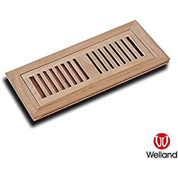Welland 2 Inch X 14 Inch Red Oak Wood Vent Cover Floor