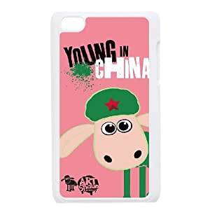 Printed Shaun the Sheep Phone Case For Ipod Touch 4 LJ2S33572