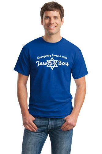 EVERYBODY LOVES A NICE JEWISH BOY Unisex T-shirt / Cute Hebrew, Israeli Tee