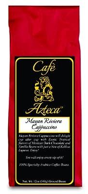Cafe Azteca Arabica Coffee Bean, Maya Riviera Cappuccino, 12 Ounce