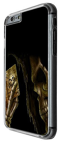 1471 - Cool Fun Trendy skeleton blood walking dead scary skull tattoo biker skull (2) Design iphone 6 Plus / iphone 6 Plus S 5.5'' Coque Fashion Trend Case Coque Protection Cover plastique et métal -