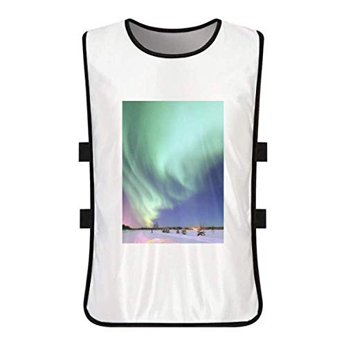 Night Stars Arctic Aurora Snow White Training Vest Jerseys Shirt Cloth