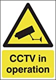 210 x 148mm CCTV in Operation - Rigid Plastic Sign by UK Safety Products