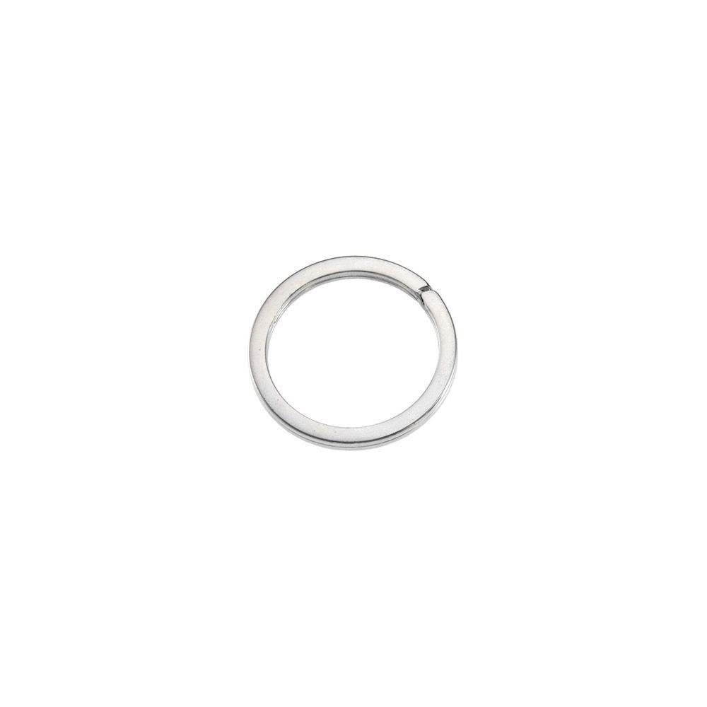 FB Jewels 925 Sterling Silver 28.3mm Round Key Ring
