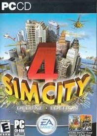 Sim City 4 Rush Hour Expansion - Sim City 4 DeLuxe Edition PC CD Includes Sim City 4 and Sim City 4 Rush Hour Expansion pack