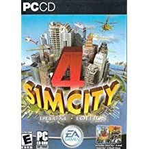 Sim City 4 DeLuxe Edition PC CD Includes Sim City 4 and Sim City 4 Rush Hour Expansion pack