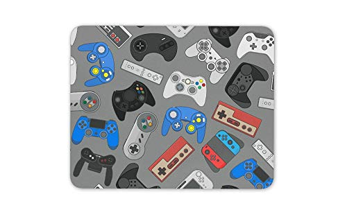 Old School Gamer Controller Mouse Mat Pad - Retro Arcade Computer Gift HB4987