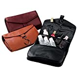 Royce Leather Hanging Toiletry Bag - Leather - Wild Berry - Wild Berry