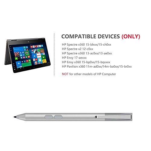 tesha HP Stylus Active Pen for HP Spectre x360 13-AE013DX