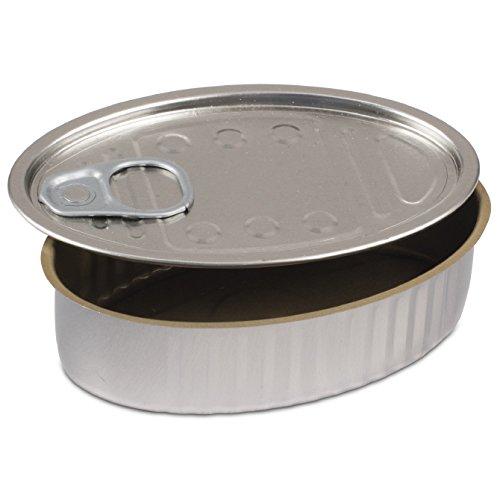 (Comatec Oval Sardine Tin with Pull Tab Lid - 4oz Capacity 100 Pack)