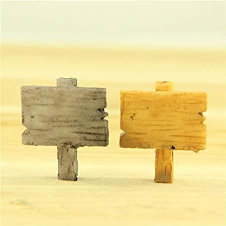 Ruikey 2 Pcs Miniatura Moss micro paisaje madera cartel ...