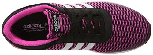 Adidas Neo Kvinners Cloudfoam Rase W Løpesko Svart / Hvit / Sjokk Rosa S16