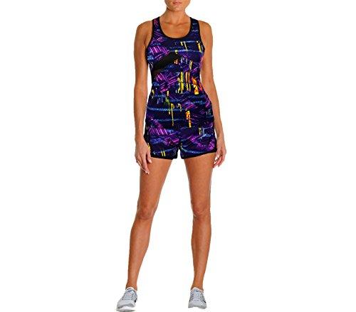 Completo sportivo da donna KENYA con canotta e short in tessuto traspirante. MEDIA WAVE store ® (S/M, Viola)