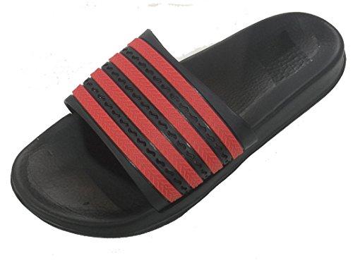 Gear En Mens Gummi Sandal Toffel Bekväm Dusch Beach Sko Halka På Flip Flop Röd