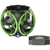 Alluing Heartbeat 0.3MP FQ26 UAV WIFI Folding Mini Aerial Vehicle drone RC Airplane Toy (Green)