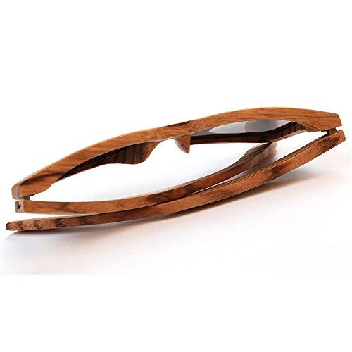 de Marco de bambú leopardo mujer Eyewear sol Adult clásicas madera Gafas de de UV de gafas hechas polarizadas estampado Protección cuadradas de Gafas unisex para sol mano Hombre sol sol de de a gafas wBqxI50n5