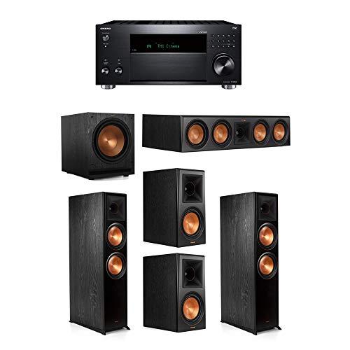 Klipsch 5.1.2 System – 2 RP-8060FA Speakers,1 RP-504C,2 RP-600M Speakers,1 SPL-120,1 RZ-840 Receiver