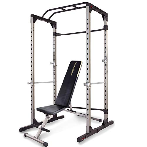 FITNESS REALITY 810XLT Super Max Power Cage with Weight Bench Combo