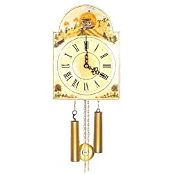 Original Eight Day Movement Special Cuckoo Clock with Hay Making Scene Depiction 14 Inch