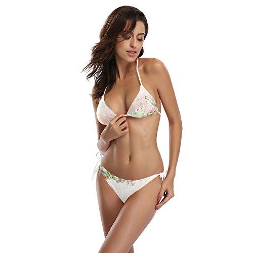 Primavera Dos Bikini Mujer o Ba Flor ador Piezas Ba Multicolor Alaza Acuarela y6HpC1dqd