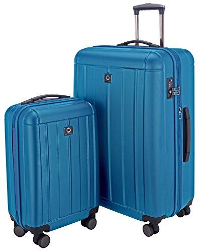 HAUPTSTADTKOFFER - Kotti - Luggages Sets Glossy Suitcase Sets Hardside Spinner Trolley Expandable (20'&28') TSA Cyan Blue 28' Insert
