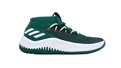 Adidas Sm Dame 4 Nba Schoen Basketbal Van Mensen Collegiaal Groen-wit