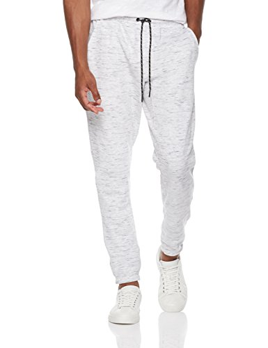 Price comparison product image Rebel Canyon Young Men's Space Dye Athletic Tech Fleece Jogger Sweatpant Large Light Grey