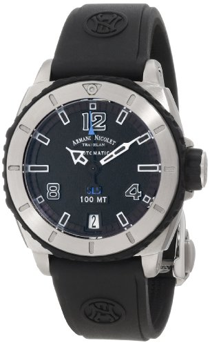 armand-nicolet-womens-9615a-gr-g9615n-sl5-stainless-steel-and-rubber-automatic-sport-watch