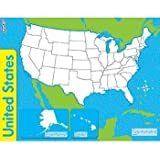 Amazoncom Chenille Kraft Company Whiteboard Usa Map Large - Us map whiteboard