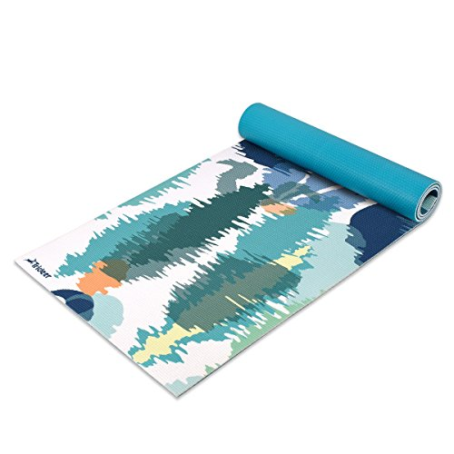 Trideer Premium Printed Yoga Mat, 1/4″ Extra Thick Non-Slip Eco-friendly Anti-Tear 6mm Floor Pilates Exercise Mat for Yoga, Workout, Fitness with Carrying Strap (Magic Forest)