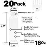 Empty PET Plastic Juice Bottles - Pack of 20 Round