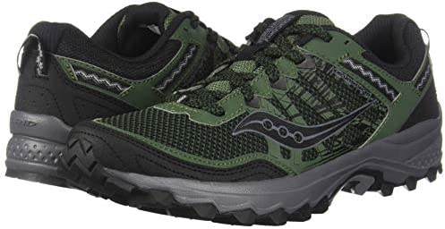 41iEcXCHRkL. AC Saucony Men's Excursion TR12 Sneaker    Rugged, durable, and good looking – the mesh upper with supportive overlays locks your foot into place, while the trail-tested outsole with triangular lug pattern will keep you from slipping ImportedRubber soleShaft measures approximately low-top from archGRID CushioningDurable rubber outsoleTrail Specific Mesh