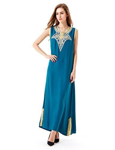 Abito Le Dubai Rayon Di Musulmano Vestiti Verde Abaya Dei Abito Donne Caftano Per Jalabiyas Islamiche FxarFAqYw