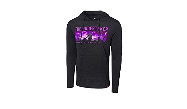 Official WWE Authentic The Undertaker Tri-Blend Pullover Hoodie Sweatshirt