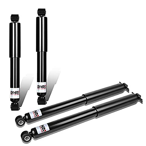 DNA Motoring Chevy S10 / GMC S15 4WD Front + Rear 4pcs Shock Absorbers (Black)