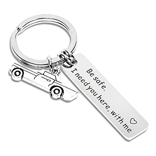 Drive Safe Keychain I Need You Here With Me Husband Gift Boyfriend Gift Trucker Gift Sweet 16 Gift, Dad Gift, Men Gift